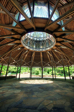 View inside the Pavilion at Garvin Woodland Gardens